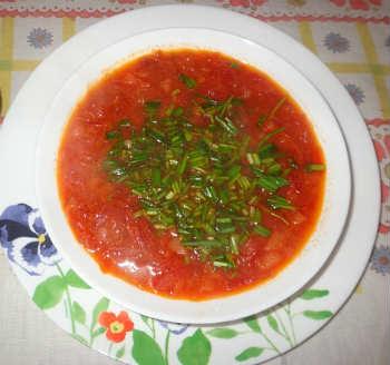 Постный борщ с фасолью, рецепт- тарелка с постным борщом