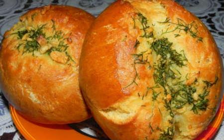 Чесночные булочки-рецепт с фото_смазать булочки чесночным соусом