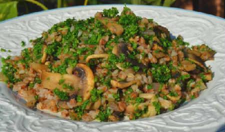 Как сварить гречку на воде рассыпчатую_ с грибами и луком