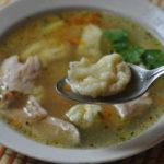 Суп с клецками на курином бульоне-рецепт