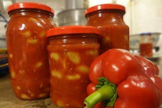 Как приготовить фасоль в томатном соусе_на зиму