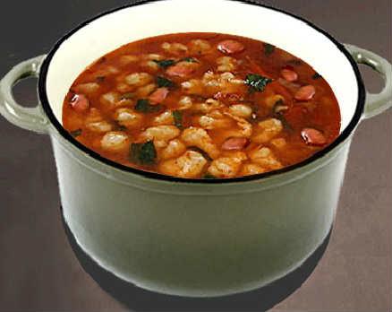 Как сварить фасолевый суп из красной фасоли_с курицей и клецками