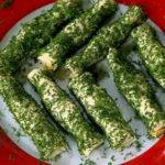 Сырные трубочки с острой начинкой_корейской морковью