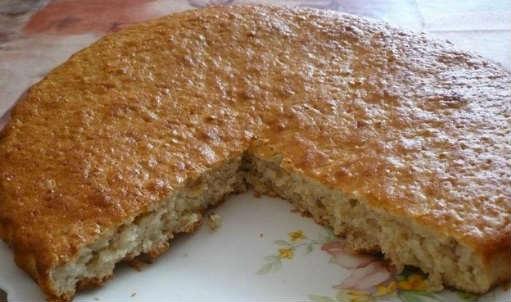 Пирог из овсяных хлопьев_рецепт