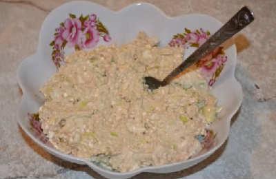 _салат с печенью минтая и творогом