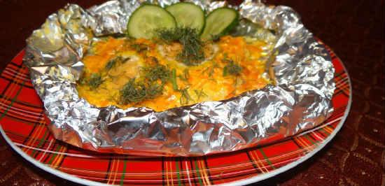 Как приготовить филе минтая вкусно_ в духовке в фольге со сметаной