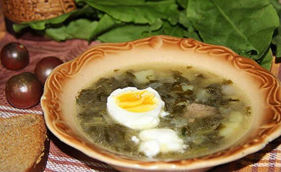 Суп со щавелем и яйцом_рецепт
