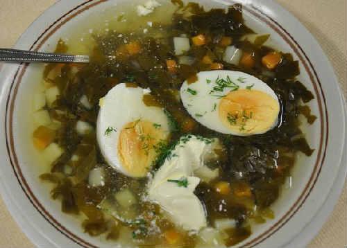 Zelenyj borshh so shhavelem i jajcom recepty2