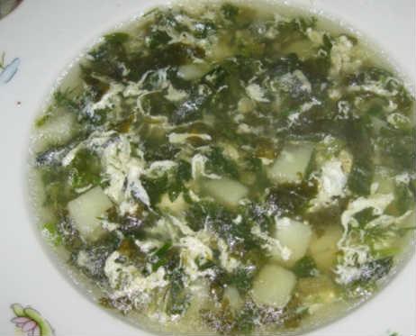 Zelenyj borshh so shhavelem i jajcom recepty7