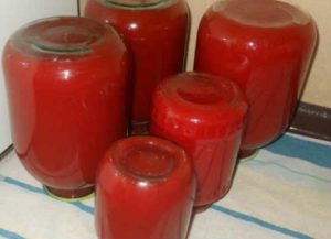 Томатный сок на зиму в домашних условиях