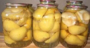 Маринованные груши на зиму рецепт