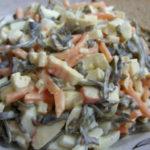 Салат с морской капустой и яйцом рецепт