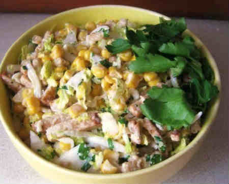 Salat s krabovymi palochkami i suharikami4