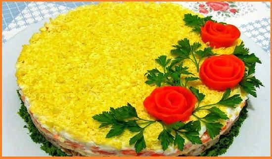 Салат с тунцом консервированным, классический рецепт