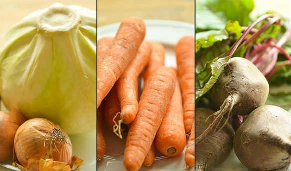 Борщ из курицы со свежей капусты_овощи для борща