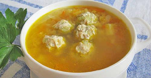 Суп гороховый с фрикадельками рецепт-приготовление