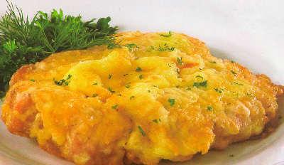 Как приготовить шницель из свинины на сковороде_с сыром