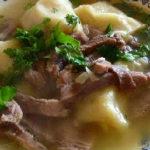 Мясо по татарски: рецепт_ с рулетиками из теста