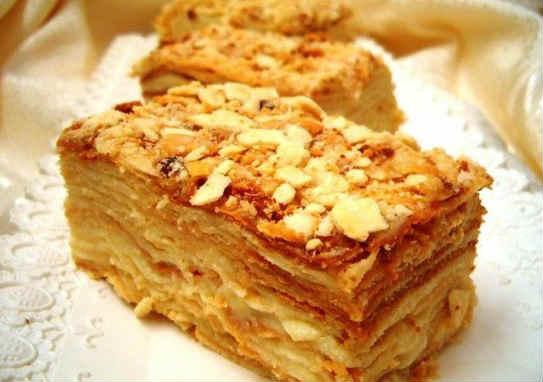 """торт """"Наполеон"""" рецепт самый лучший_мокрый"""