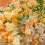 Оливье диетический рецепт_без картошки