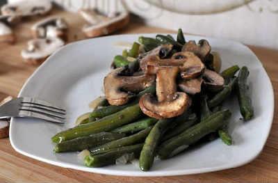_стручковая фасоль с грибами рецепт