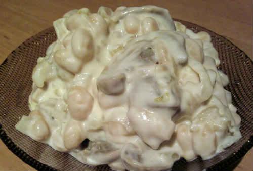 _салат с белой консервированной фасолью, рецепт