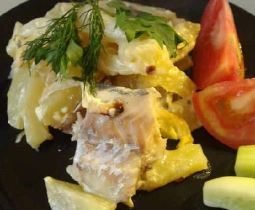 Как приготовить филе минтая вкусно_ с картошкой в духовке