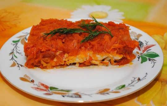 _минтай под маринадом из моркови и лука в мультиварке