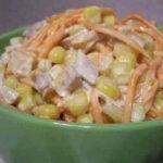 Салат с белой фасолью консервированной и грибами