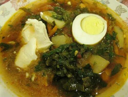 Zelenyj borshh so shhavelem i jajcom recepty6