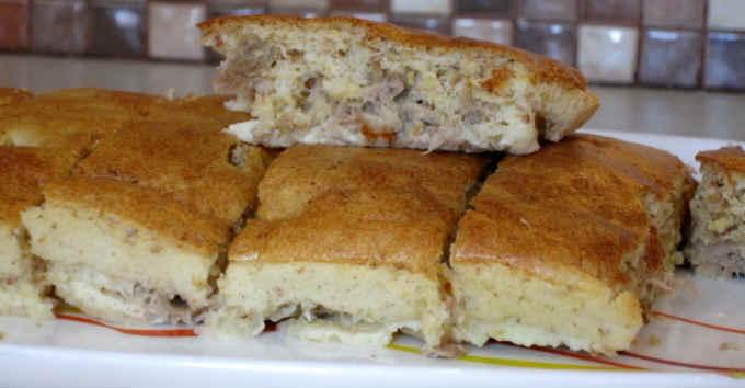 Пирог с тунцом консервированным