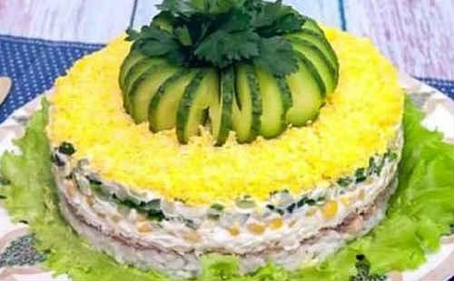 Salat iz pecheni treski konservirovannoj7