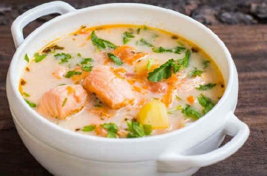 Суп из лосося рецепт