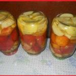 Помидоры с яблоками без уксуса на зиму