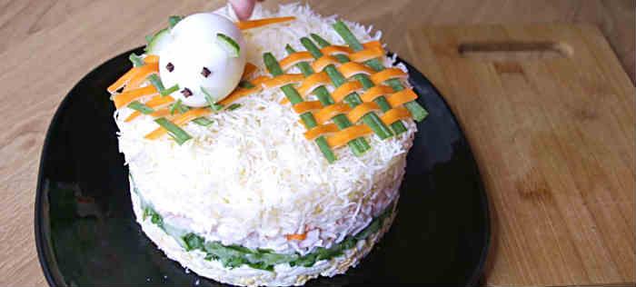 Salat Myshka na novyj god36