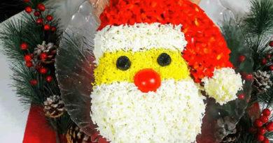 Салат Дед Мороз Красный нос 2020