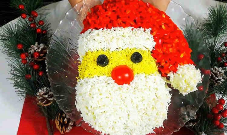 Салат Дед мороз Красный нос