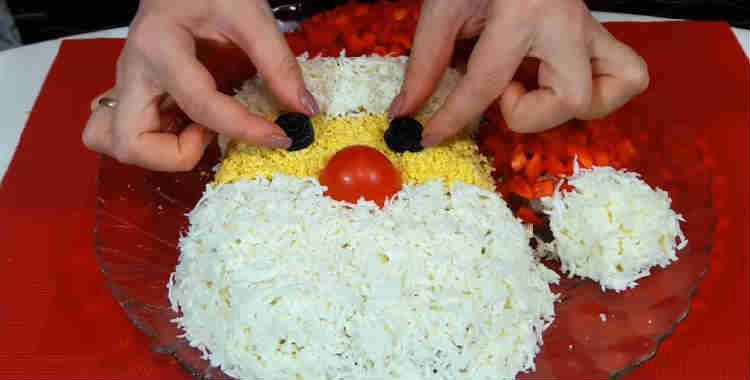 Salat Ded moroz Krasnyj nos13