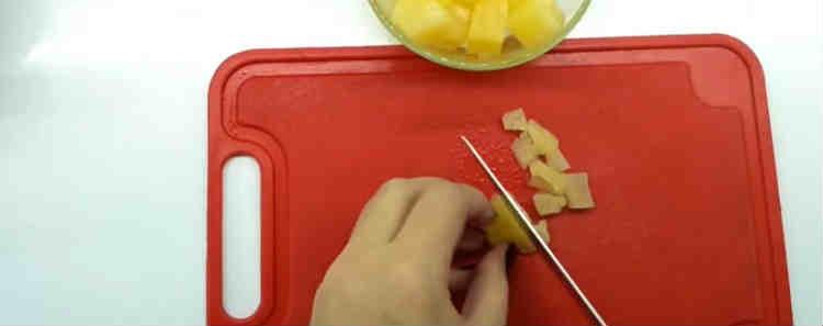 Tartaletki s kuricej, ananasom4