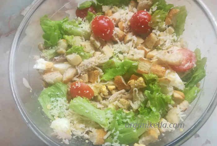Salat Cezar' s kuricej4