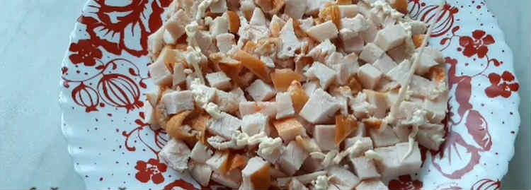 Salaty iz kopchenoj kuricy i chernosliva28