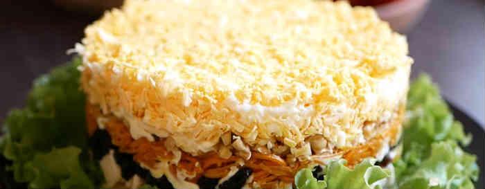 Salaty iz kopchenoj kuricy i chernosliva9