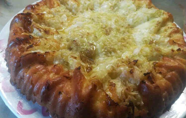 Заливной пирог с капустой