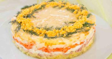 Салат Мимоза с рыбными консервами — классические рецепты приготовления