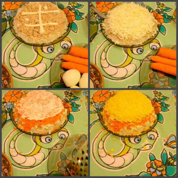 Salat Mimoza s rybnymi konservami0-0