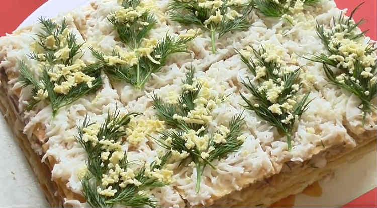 Salat Mimoza s rybnymi konservami12