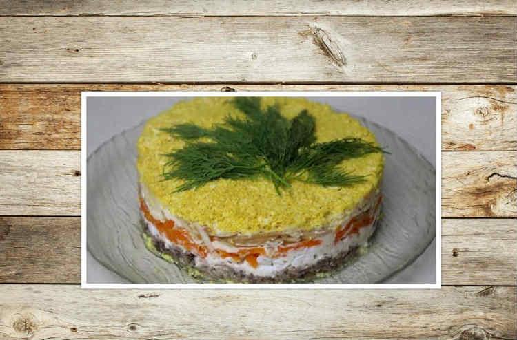 Salat Mimoza s rybnymi konservami15-5