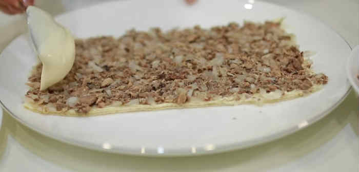 Salat Mimoza s rybnymi konservami16