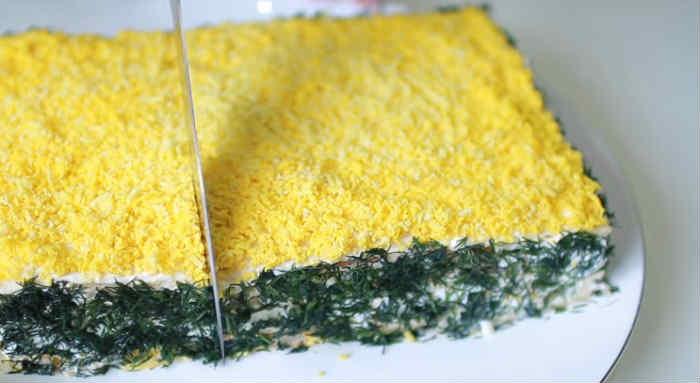 Salat Mimoza s rybnymi konservami20