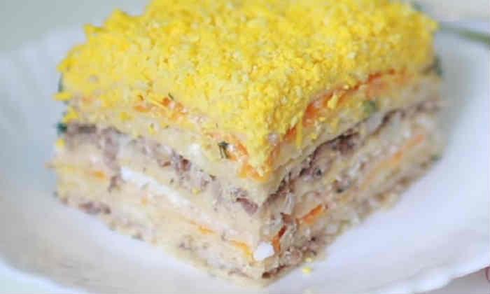 Salat Mimoza s rybnymi konservami24